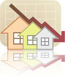 Real Estate Chart Down. Illustration of Real Estate Chart Down Royalty Free Stock Images
