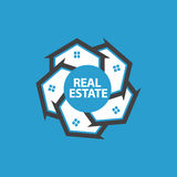 Real Estate Circle of Houses Illustration Royalty Free Stock Photo