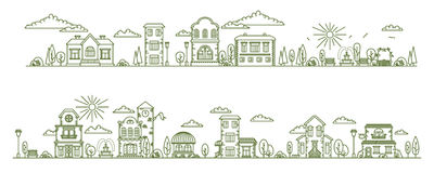 Real estate city buildings. Stock vector illustration Royalty Free Stock Images