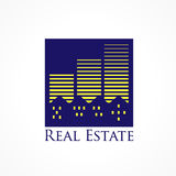 Real estate city logo Royalty Free Stock Photo