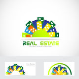 Real estate city logo Stock Images