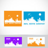 Real estate city scape logo Royalty Free Stock Images