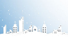 Real estate city winter business background Royalty Free Stock Image