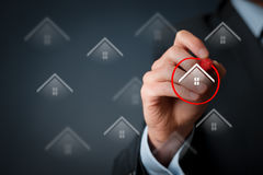 Real estate client. Select house. Property insurance concepts Stock Photos