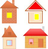 Real estate collection Stock Photography