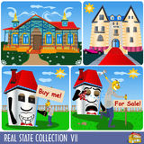 Real estate collection 7 Royalty Free Stock Images