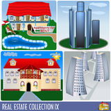 Real estate collection 9 Royalty Free Stock Image