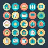 Real Estate a coloré les icônes 1 de vecteur illustration stock