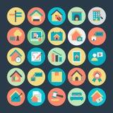 Real Estate a coloré les icônes 3 de vecteur illustration de vecteur