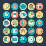 Real Estate a coloré les icônes 4 de vecteur illustration de vecteur