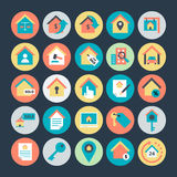 Real Estate a coloré les icônes 2 de vecteur illustration libre de droits