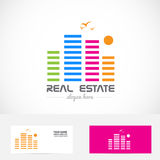 Real estate color building logo Stock Photography
