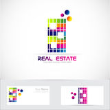 Real estate color building logo Royalty Free Stock Images