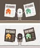 Real estate colored cartoon Royalty Free Stock Image