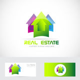 Real estate colored house Royalty Free Stock Images