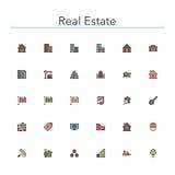 Real Estate Colored Line Icons. Set. Vector illustration Vector Illustration