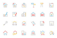 Real Estate Colored Line Icons 2 Stock Photography