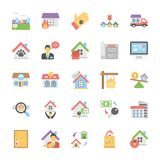 A Pack Of Real Estate Flat Vector Icons royalty free illustration