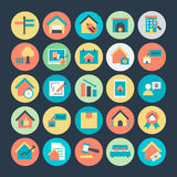 Real Estate Colored Vector Icons 3 Royalty Free Stock Images