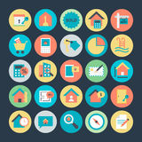 Real Estate Colored Vector Icons 4 Stock Photography
