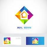 Real estate colorful logo Royalty Free Stock Image