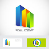 Real estate colors buildings logo icon Stock Image