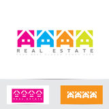 Real estate colors house logo Royalty Free Stock Images
