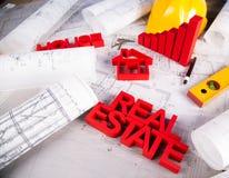 Real Estate commerciale e progetto architettonico Immagini Stock Libere da Diritti
