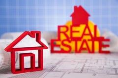 Real Estate commerciale e progetto architettonico Fotografia Stock Libera da Diritti
