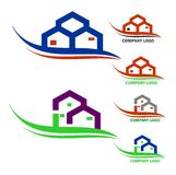 Real estate company logo. Collection of home and real estate related company logo vector illustration