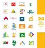 Real estate company logo set Royalty Free Stock Photos