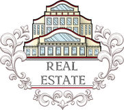 Real estate company logo template. Royalty Free Stock Images