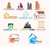 Real Estate Company Logo Template Royalty Free Stock Photos
