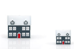 Real estate concept. In white backround Stock Image