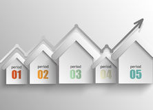 Real estate - a concept abstract infographics Stock Photography