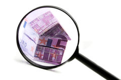 Real estate concept with Euro bank notes Royalty Free Stock Image