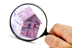 Real estate concept with Euro bank notes Stock Photography