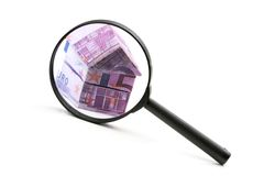 Real estate concept with Euro bank notes Stock Image
