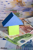 Real Estate concept with Euro banknotes Stock Images