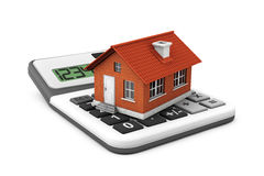 Real Estate Concept. House with calculator Stock Photos