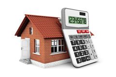 Real Estate Concept. House with calculator Stock Images