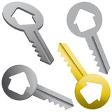 Real estate concept with house keys Stock Image