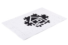 Real estate concept. House and puzzle as real estate concept Royalty Free Stock Photo