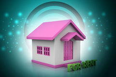 Real estate concept House for rent Stock Photo