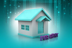 Real estate concept House for rent Stock Photos