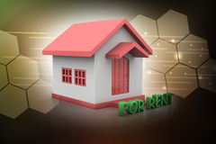 Real estate concept House for rent Royalty Free Stock Photography