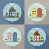 Real Estate-Concept: Huizen voor Verkoop/Huur royalty-vrije illustratie
