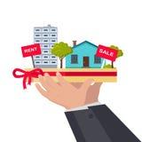 Real Estate Concept Illustration in Flat Design. stock illustration