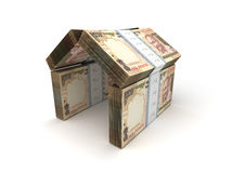 Real Estate Concept Indian Rupee royalty free illustration