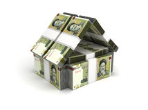 Real Estate Concept Iranian Rial Royalty Free Stock Photography